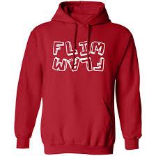 Flamingo merch represent flamingo mrflimflam albert youtuber merch flamingo  flim flam hoodie t shirt sweatshirt long sleeve red - New Tshirt US