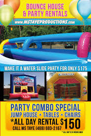 postcardfrontside jpg bounce house party flyer