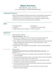 dietitian resume best dietetic intern resumes resumehelp