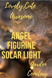 angel solar lights figurine for garden
