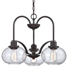 quoizel trg5103oz old bronze trilogy 3 light 22 wide single tier chandelier with seedy clear glass lightingdirect com