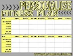 Personalized Fitness Plan Template (Health, Pe, Fitness) | Pinterest ...