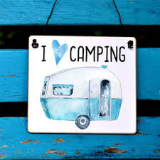 Camping Schild I Love Camping