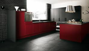Modern Microwave red and brown kitchen decor black veneer laminate wood drawer 6002 by guidejewelry.us
