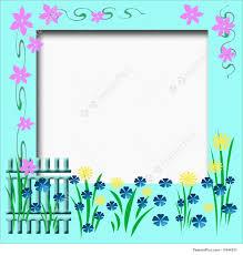 garden photo frames. Garden Fence Flowers And Vines Border Cutout Scrapbook Frame Photo Frames