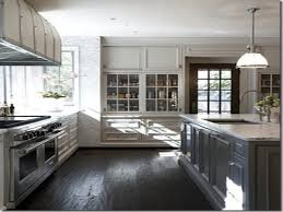 Kitchens With Gray Floors Refinishing Kitchen Cabinets Grey Quicuacom