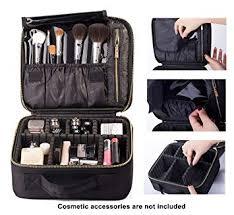 rownyeon makeup travel bag professional cosmetic makeup organizer case makeup train case makeup artist bag portable