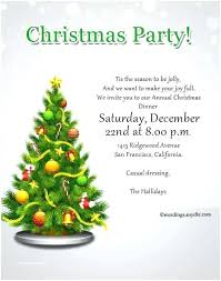 Sample Of Christmas Party Invitation Wording For Christmas Party Invitations Invitation Sample