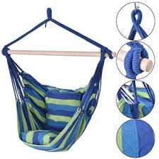 outdoor hanging furniture. Costway Hammock Rope Chair Patio Porch Yard Tree Hanging Air Swing Outdoor  (Blue And Green Outdoor Hanging Furniture