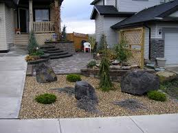 Rocks For Front Yard In Simple Design Decor With Trends And Rock  Landscaping Ideas Picture About Remodel Home Landscape
