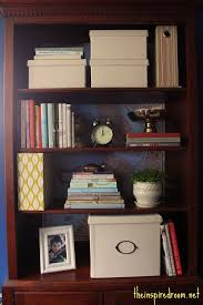 home office bookshelf. Lighten Up A Dark Bookcase -- Without Paint! {Home Office Makeover} Home Bookshelf