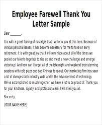 Thank You Note To Employee Sample Thank You Notes To Employee 8 Examples In Word Pdf