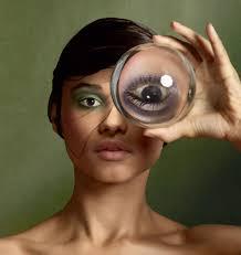 the rainbow in your eyes mirror mirrormirror mirror photography koen hauser makeup sandra govers for ellis faas cosmetics kevin murphy angelique