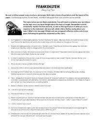 frankenstein the albatross and tintern abbey frankenstein literary essay pdf gdhs english department