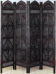 Small Picture Antiques Wood Room Divider 4 Panel Hand Carved Screen Home Decor