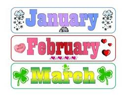 The Year Calendar Months Of The Year Calendar Labels By Where Imagination Grows Tpt