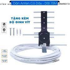 sản phẩm bộ Anten thông minh thu sóng DVB T2 + 15m dây cáp + Jack nối