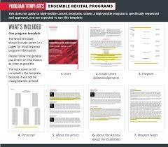 Program Notes Template Program Templates University Of Houston