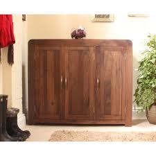 shiro shoe storage cabinet cupboard rack large solid walnut dark wood furniture