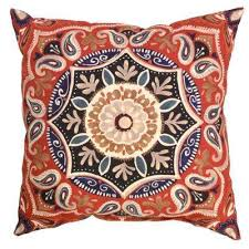 chili medallion square outdoor throw pillow