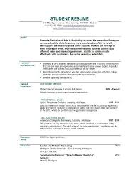 Sample Resume For Fresh Graduates With No Experience Menu And Resume