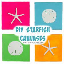 6 30 diy starfish canvases summer room decor
