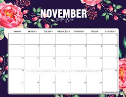 November Through November Calendars 12 Free Printable November 2018 Calendar And Planners