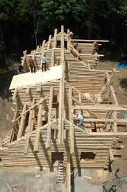 Small Picture How these Michigan Log Home Builders construct your home