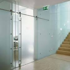 commercial interior glass door. Frosted Sliding Interior Door | Glass Wall Systems Gallery Products Anchor- Commercial T