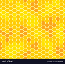 Beehive Pattern Stunning Honeycomb With Honey Seamless Pattern Royalty Free Vector