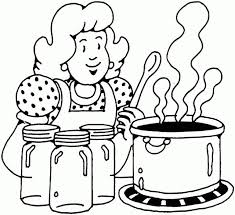 Small Picture People and places coloring pages Woman cooking Owl