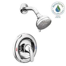 adler 1 handle 1 spray shower faucet with valve in chrome valve included