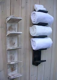 bath towel holder. Beautiful Holder Elegant Bath Towel Holder Bathroom Decor Wood Shabby By  Via Bar With Bath Towel Holder N