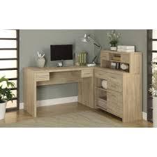 L shaped home office desk Hutch Natural Reclaimedlook Shaped Home Office Desk Sears Monarch Specialties Natural Reclaimedlook Shaped Home Office Desk