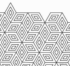 Simple and complex shapes, 3d, celtic designs, stars, and pattern coloring sheets for color with fuzzy! Free Printable Geometric Coloring Pages For Kids