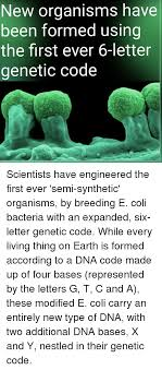 genetic makeup of an organism memes and nestle new organisms have been formed using the first ever
