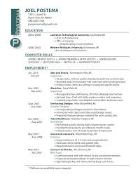 Resume Samples Cook Job