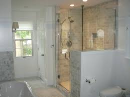 pony wall shower glass half wall traditional with metal cabinet and drawer pulls gallery half wall pony wall shower photo of glass