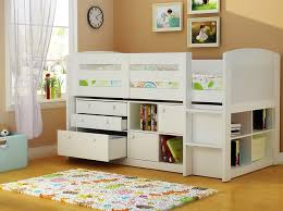 kids beds with storage boys. Neptune Childrens Beds With Storage - White Mid Sleeper Bed Kids Boys D