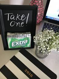 diy chalkboard frame gum holder