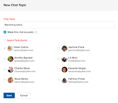 online group collaboration software project chat create new chat topic