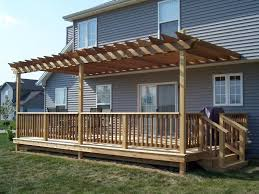 Pergola Attached To House Over Deck