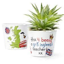 Facepot Blumentopf ø16cm Lustiges Geschenk Für Englisch Lehrer