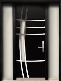 Modern Contemporary Door Modern Wood Door with Stainless Steel