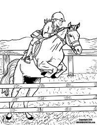 How About Some Horse Sports Coloring Pages To Send To Your Sponsored