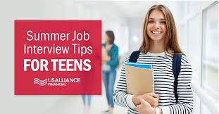 Job Interview Teenager Summer Job Interview Tips For Teens
