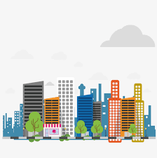 Cartoon City Cartoon Urban City Png And Vector For Free Download