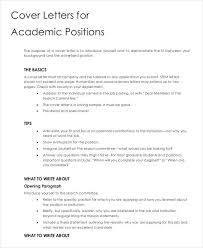 Cover Letter Questions Cover Letters For Academic Positions