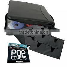 black pu leather cd cover dvd case holder portfolio manufacturer