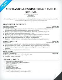 Mechanical Engineer Resume Format Doc Resume Template Ideas
